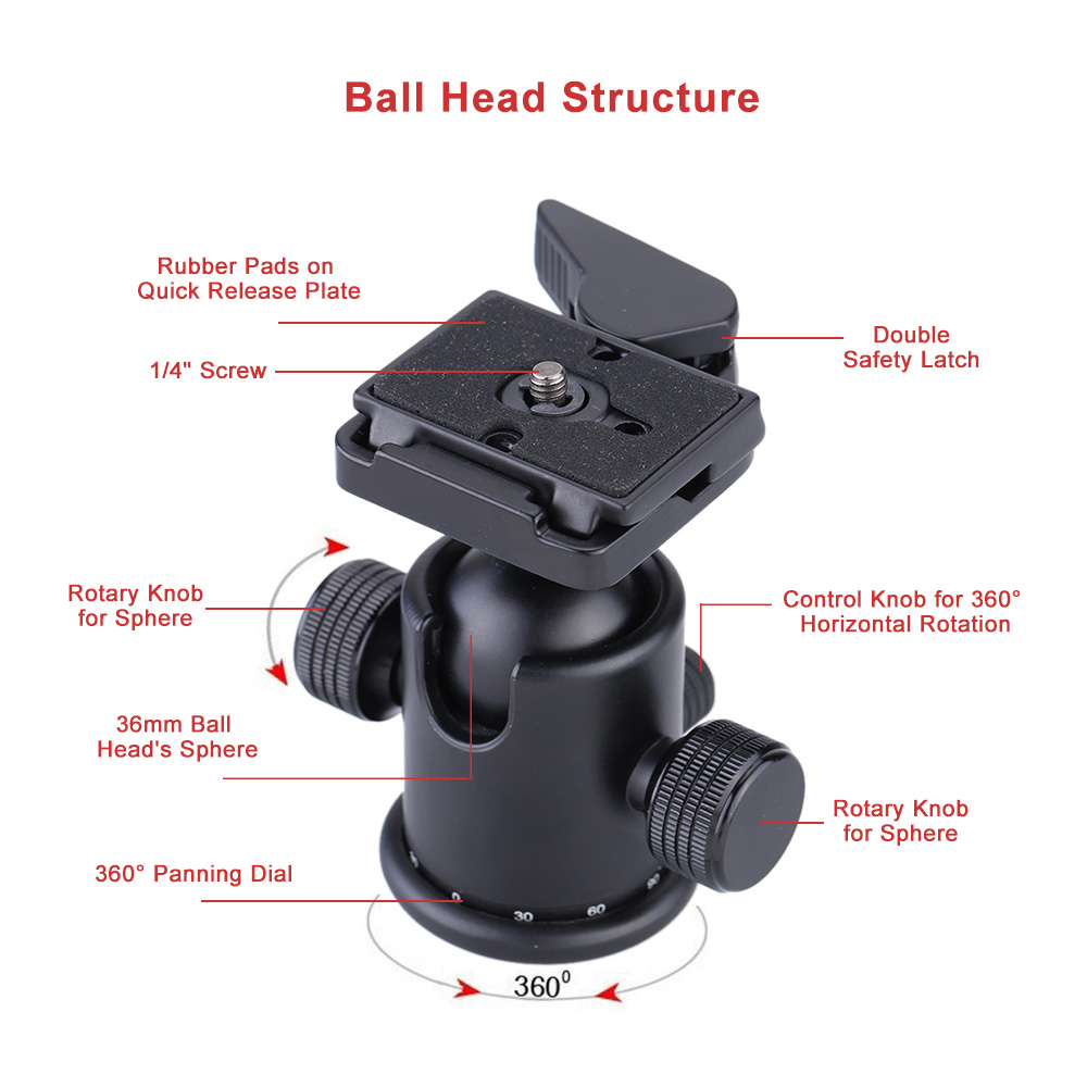 Professional Universal Ball Head Tripod Head Panoramic Head with ...