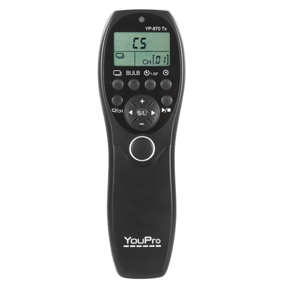 Youpro Yp 870 Dc2 24g Wireless Remote Control Lcd Timer Shutter The Equipment Is Delay Time Mode You Release Transmitter Receiver 32 Channels For Nikon D750 D7100 D7200 D7000 D600 D610 D5500