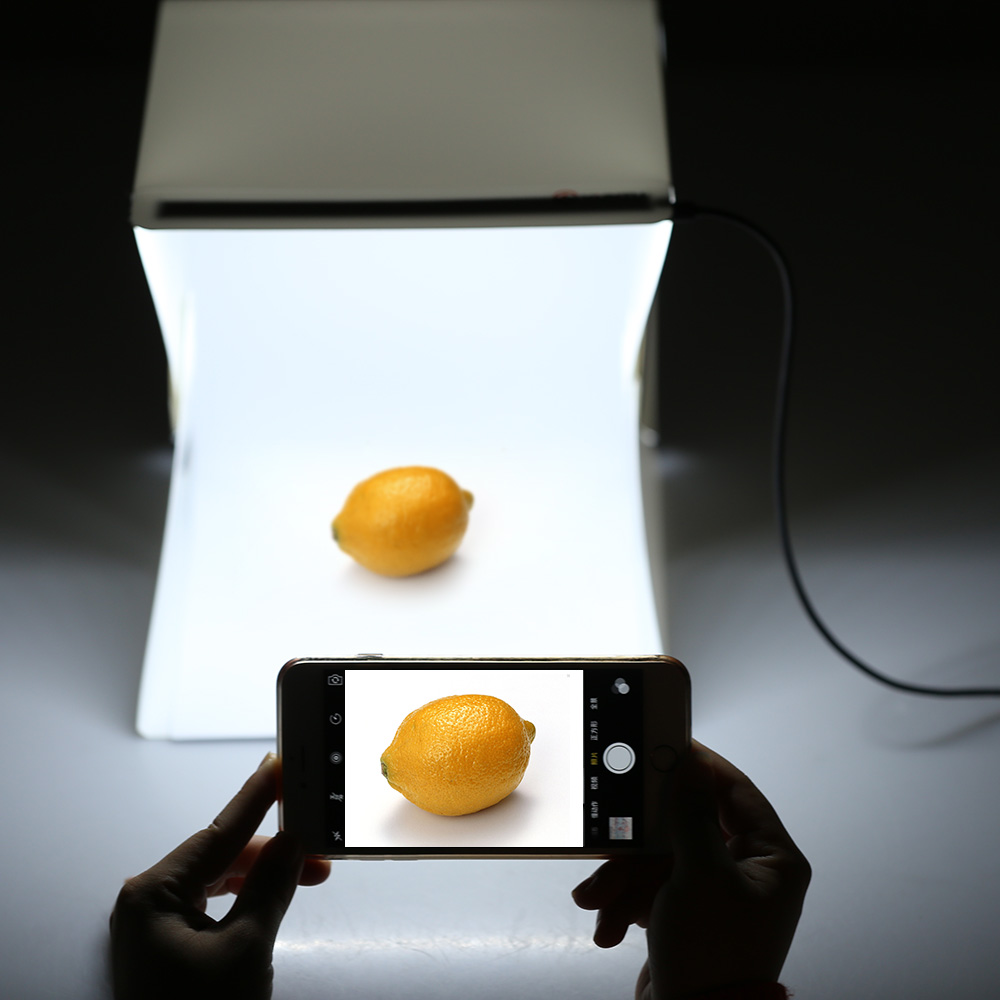 Folding Foldable Portable Mini Photography Led Lightbox Studio For