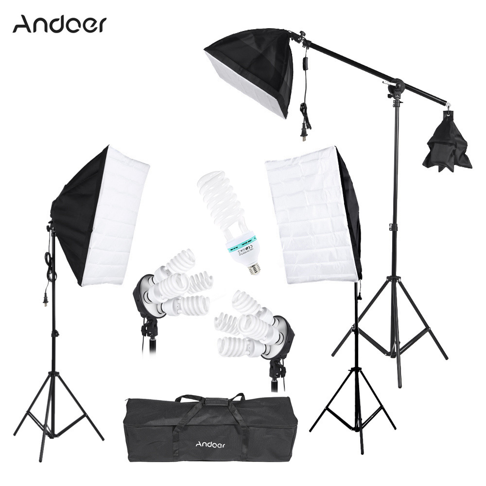 Andoer Photography Studio Portrait Product Light Lighting Tent Kit Photo Video Equipment(3 * Softbox+2 * 4in1 Light Socket  sc 1 st  Andoer & Andoer Photography Studio Portrait Product Light Lighting Tent Kit ...