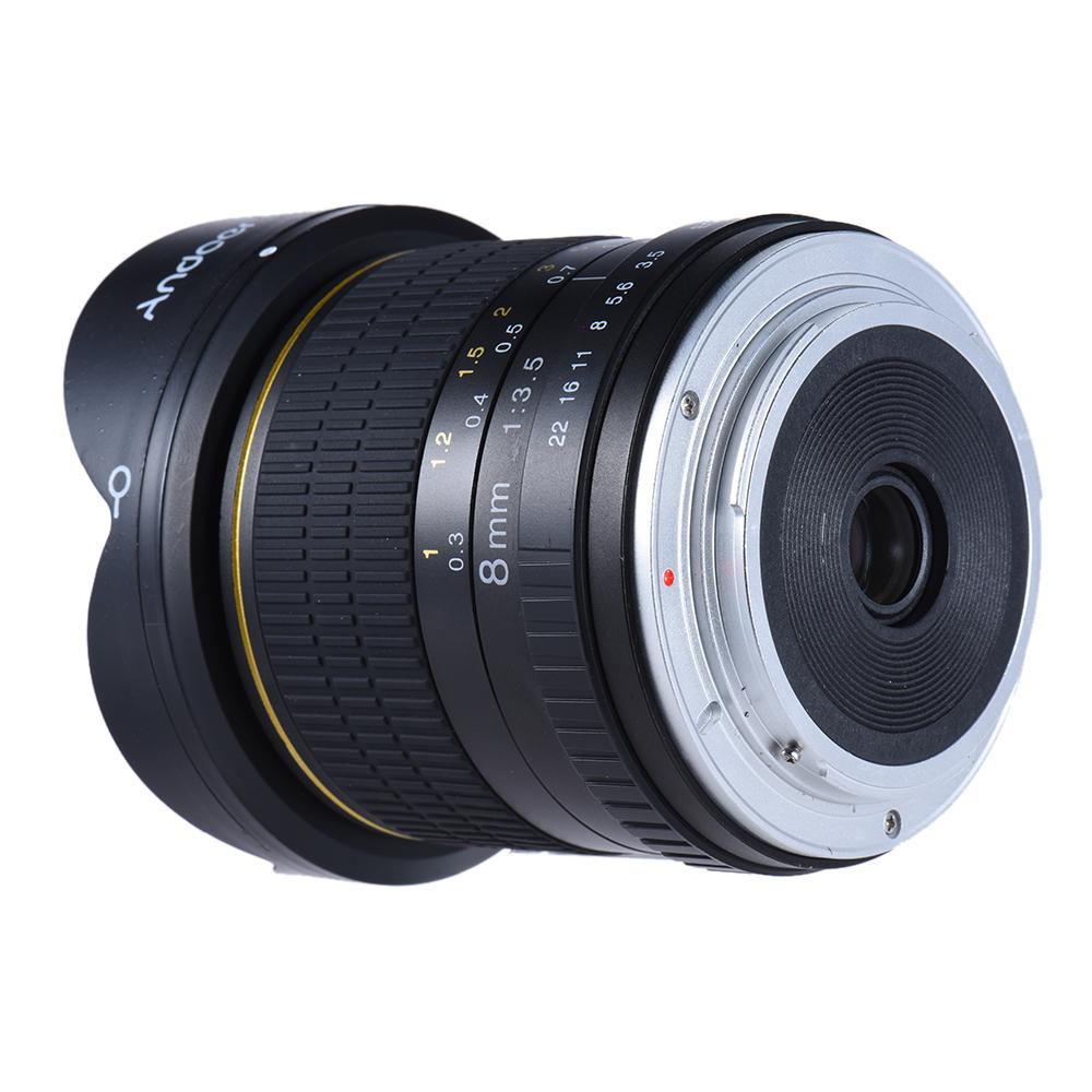 Andoer 8mm F/3.5 170° Ultra Wide HD Fisheye Aspherical Circular Lens ...