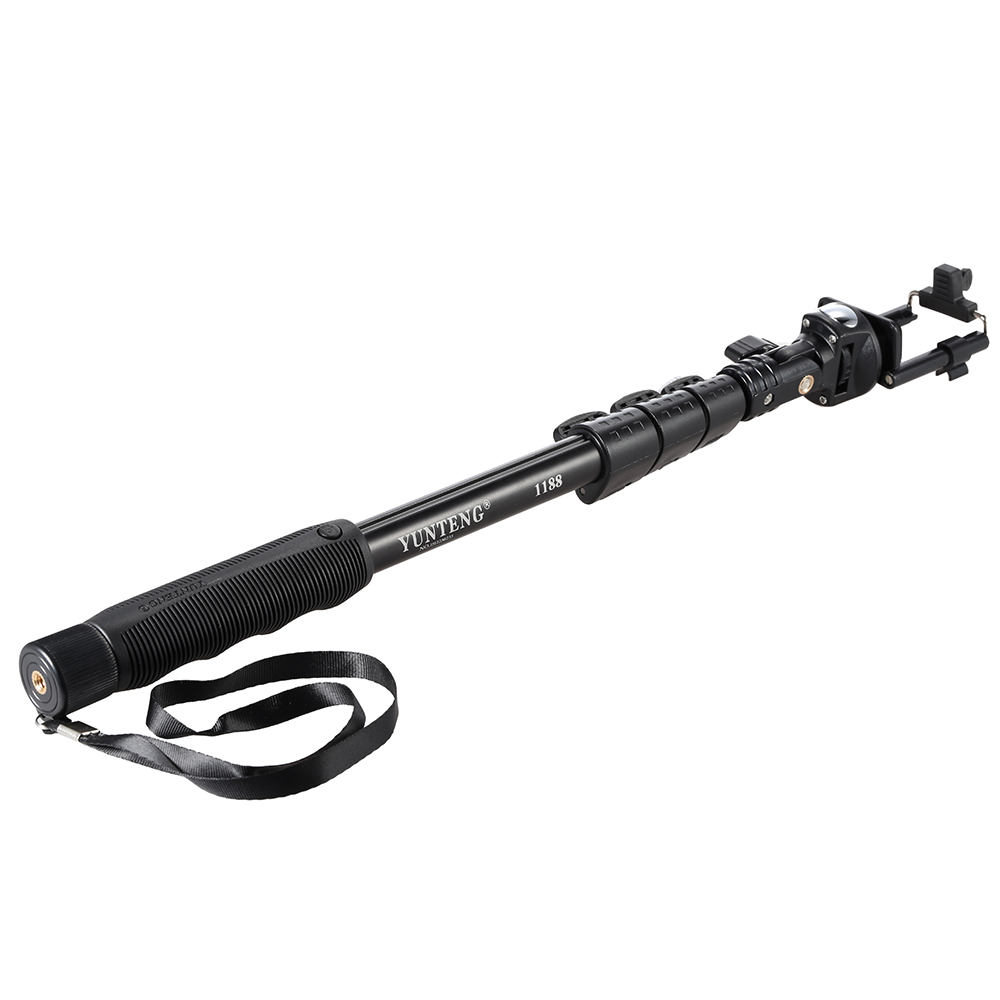 YUNTENG YT-1188 Wired Cable Extendable Selfie Stick Pole