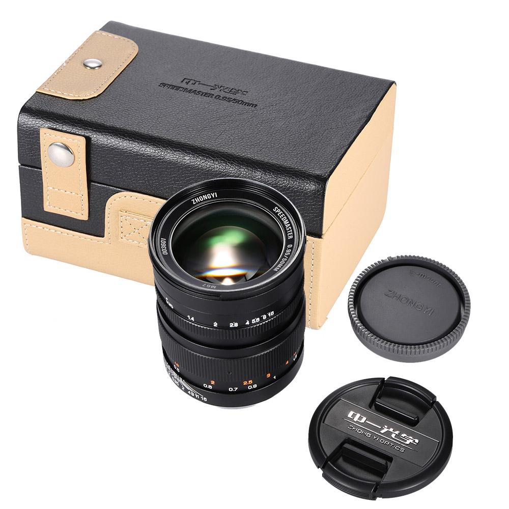 Zhong Yi óptica 50mm F0.95 135 completo marco lente para sony A7 ...