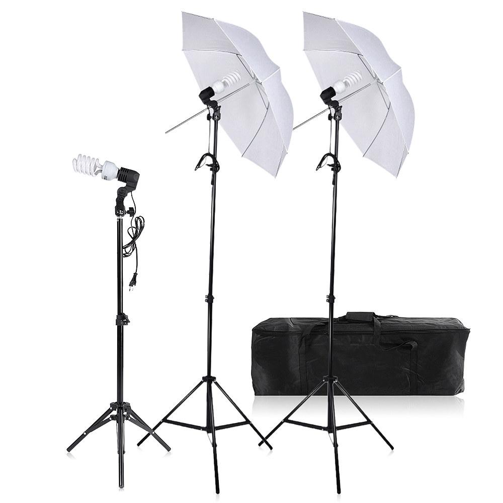 Adjustable 70Cm Light Stand Photo Studio Lights Flash Umbrellas Tripod Kit