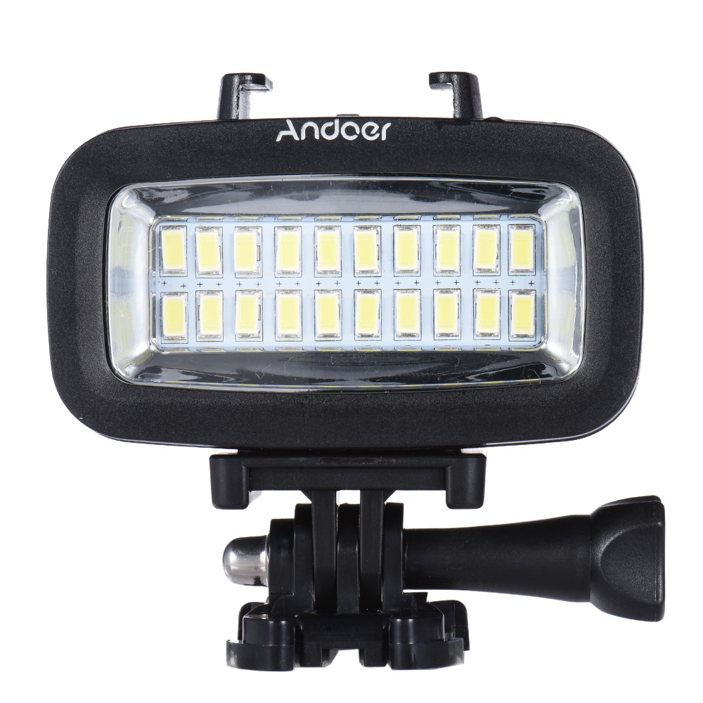 Andoer High Power 700LM Diving Video Fill-in Light LED Lighting L& Waterproof 40M 1900mAh Built-in Rechargeable Battery with Diffuser for GoPro SJCAM ...  sc 1 st  Camfere.com & Andoer High Power 700LM Diving Video Fill-in Light LED Lighting ... azcodes.com