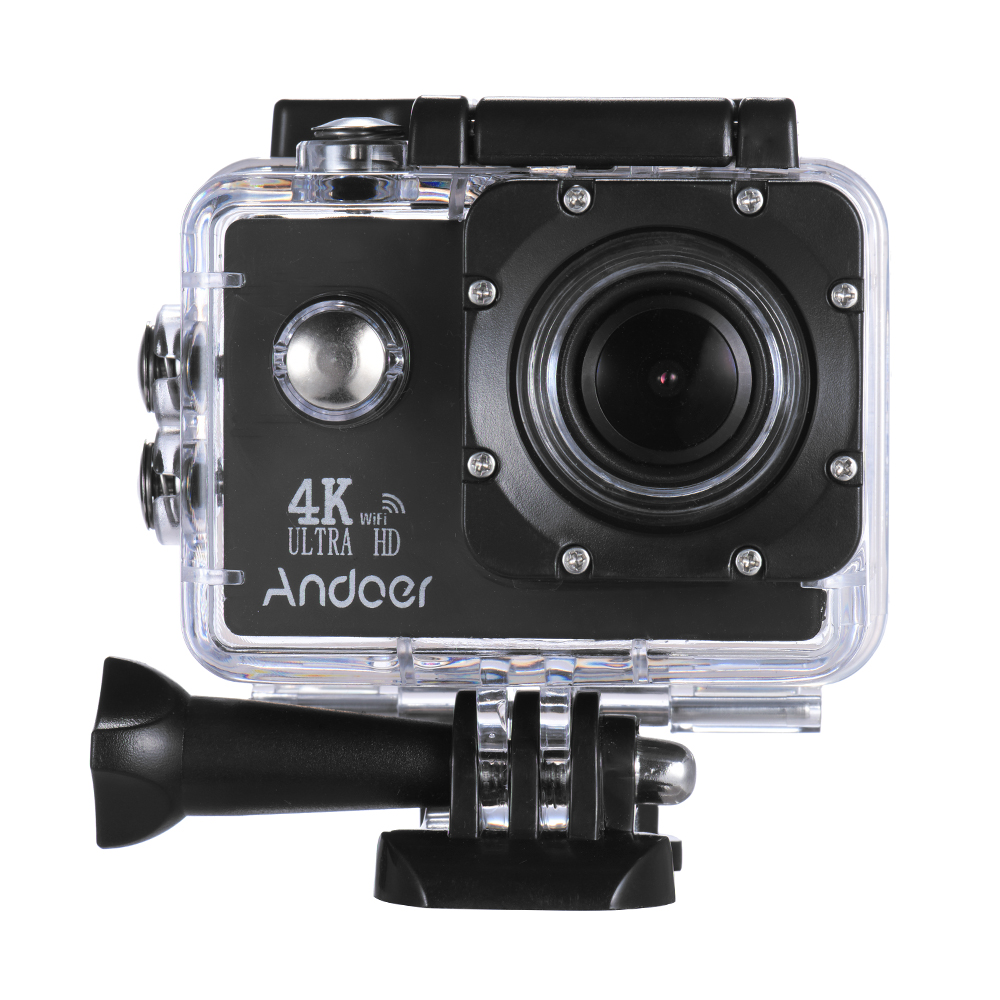Andoer An4000 4k 30fps 16mp Wifi Action Sports Camera 1080p 60fps Full Hd 4x Zoom Waterproof 40m 2 Lcd Screen 170 Wide Angle Lens Support Slow Motion
