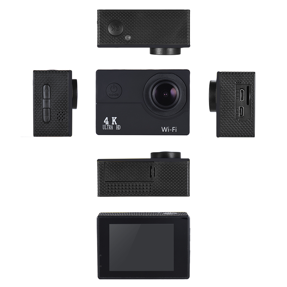 4K 30fps 16MP WiFi Action Sports Camera 1080P 60fps Full HD 4X Digital Zoom  Diving 40m 170° Wide Angle Lens 2