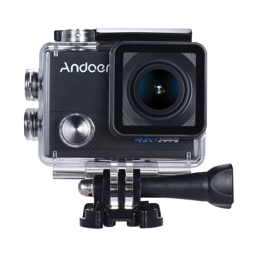 Andoer AN5000 4K 24fps WiFi Sports Action Camera 20MP 1080P 60fps Gyroscope  Anti-shake Support 5X Zoom 2
