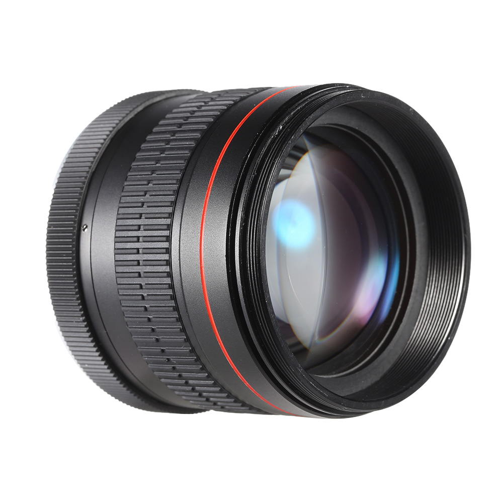 Kelda 85mm f / 1.8 Manueller Fokus Portrait Objektiv für Canon EOS ...