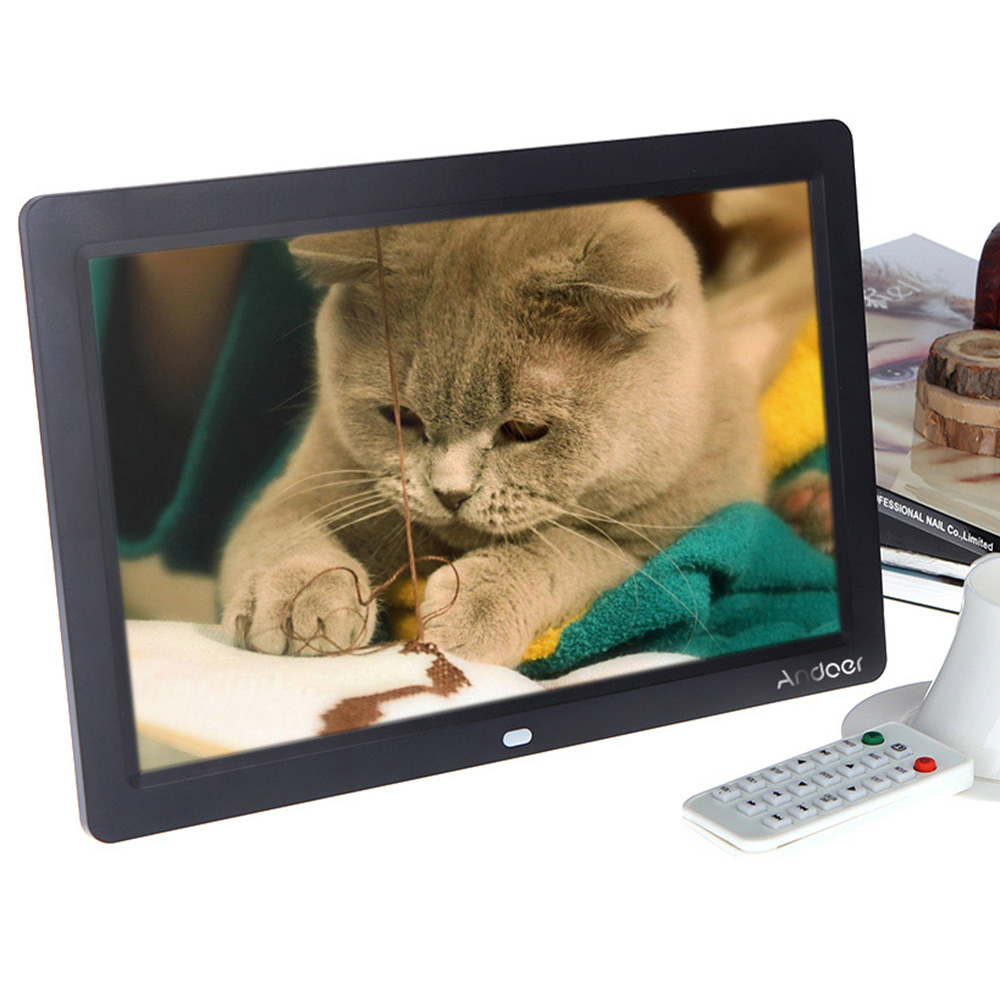 12\'\' HD TFT-LCD 1280 * 800 Full-view Digital Photo Frame Alarm Clock ...
