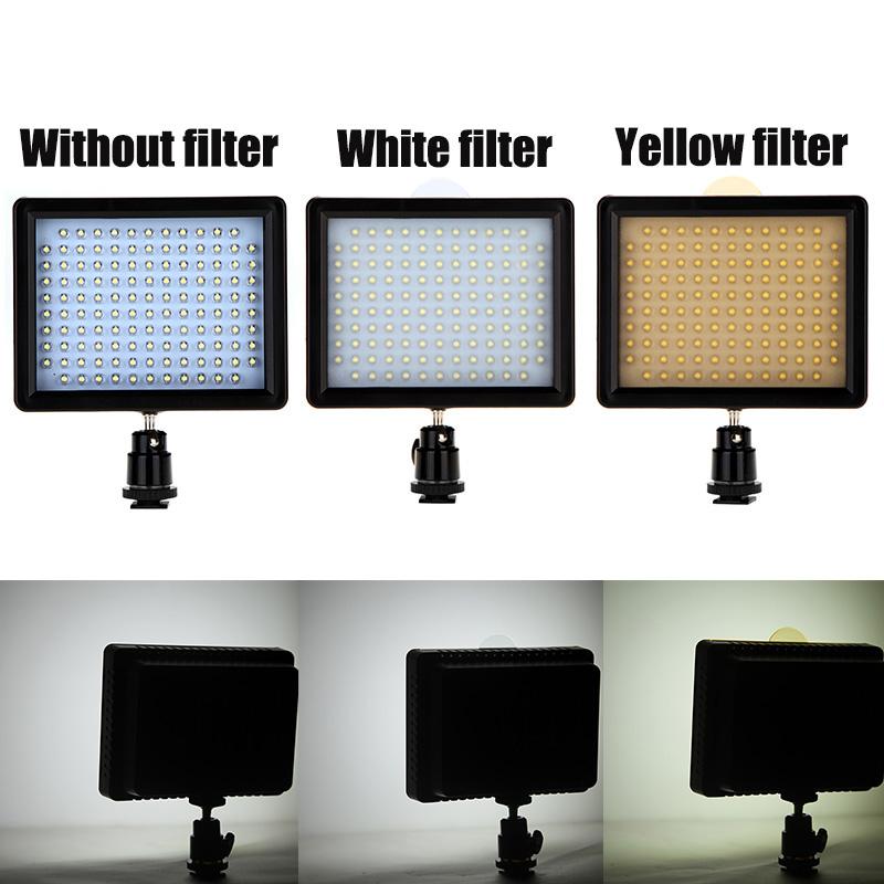 126 LED Videoleuchte Lampe Bedienplatte 10W 960LM Fur