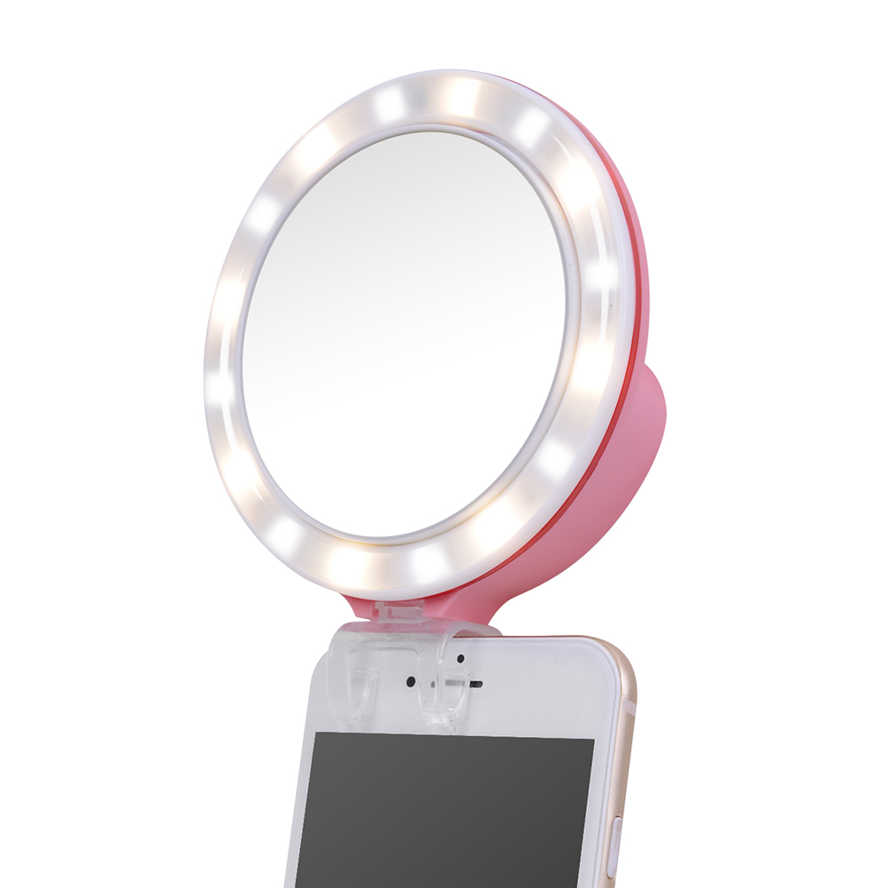 nanguang cn mp16c clip on selfie fill in ring led licht. Black Bedroom Furniture Sets. Home Design Ideas