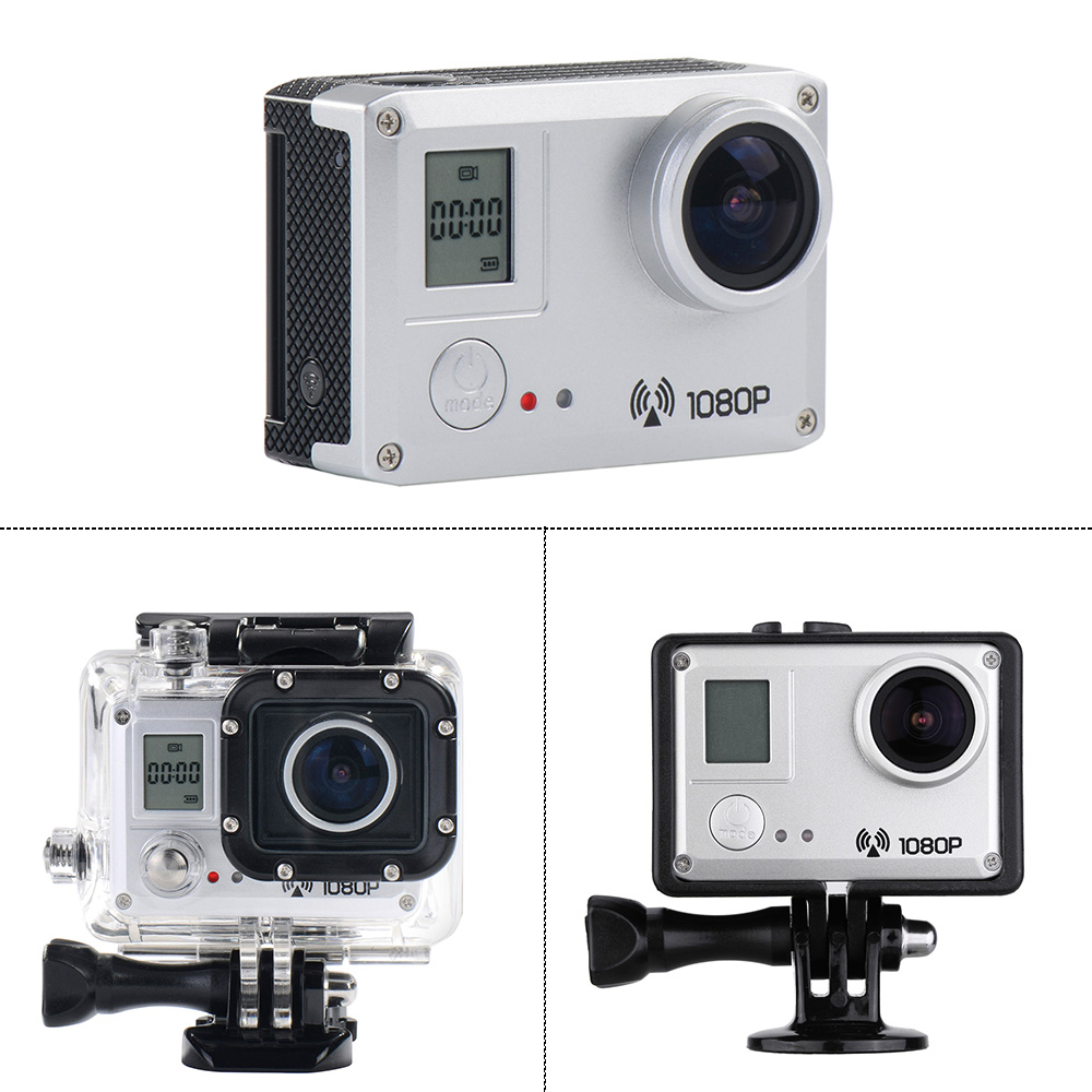 Amkov Amk5000s 20mp 1080p Wifi Waterproof 30m Shockproof 170wide Action Camera Angle Outdoor Sports Camcorder Digital Cam Video Hd Dv Car Dvr Silver Deals