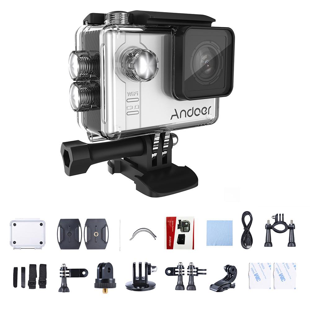 Andoer AN7000 WiFi 4K Camera 1080P 120fps 720P 240fps Full HD Action Camera  WiFi Sports Camera Anti-shake Waterproof Diving 60m 2 0