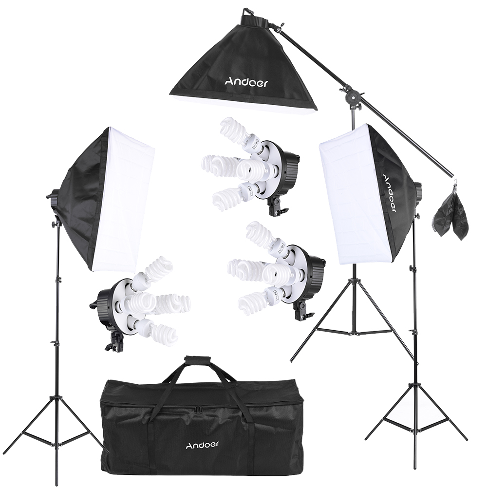 Andoer Studio Photo Video Softbox Lighting Kit Photo Equipment(15 * 45W Bulb / 3  sc 1 st  Camfere.com & Andoer Studio Photo Video Softbox Lighting Kit Photo Equipment(15 ...