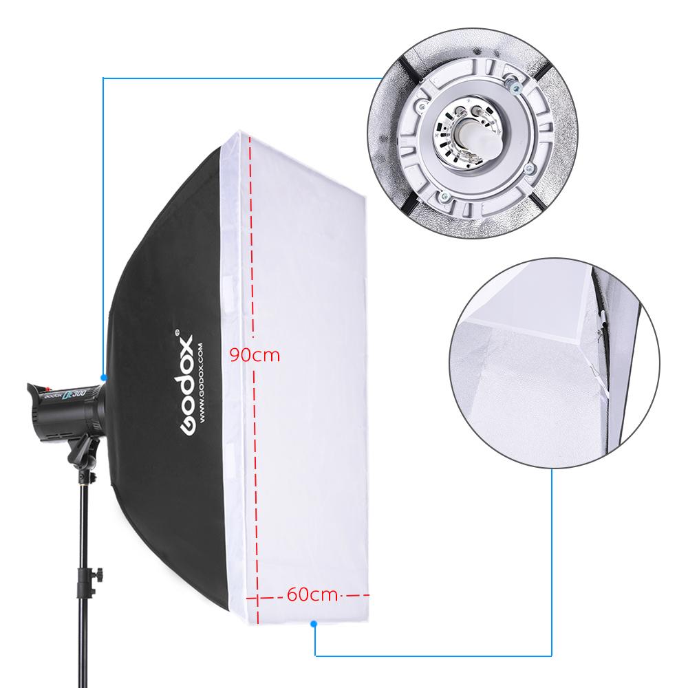Godox Studio Lighting Kit Bag: Godox SK300-D 3 * 300WS Studio Photo Strobe Flash Light