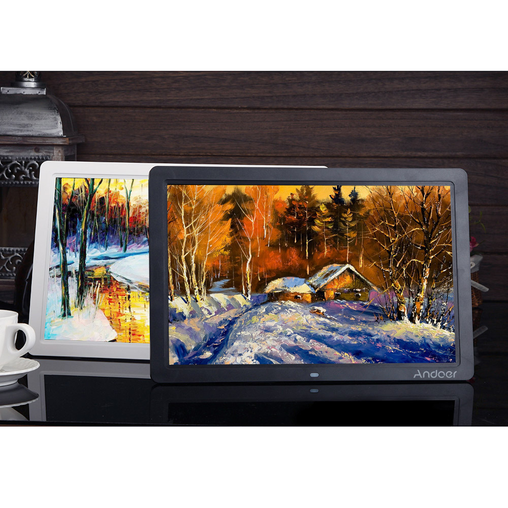 nur andoer 15 breitbild hd led digitaler bilderrahmen digital album. Black Bedroom Furniture Sets. Home Design Ideas