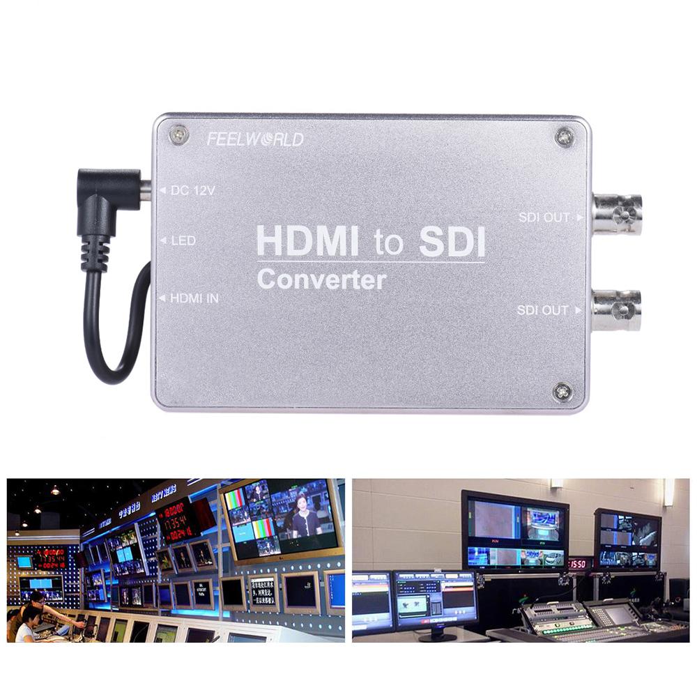 SDIビデオオーディオ変換アダプタHDMI入力2ウェイSDI出力1080P放送対応の3G / HD / SD-SDIへの変換Feelworld HDMI