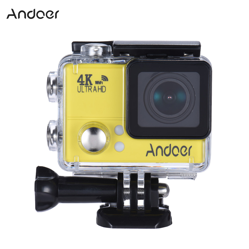 Andoer 4K 1080P 60FPS Full HD DV 2 0in LTPS LCD Screen Wifi Waterproof 45M  170°Wide Angle Outdoor Action Sports Camera Camcorder Digital Cam Video Car