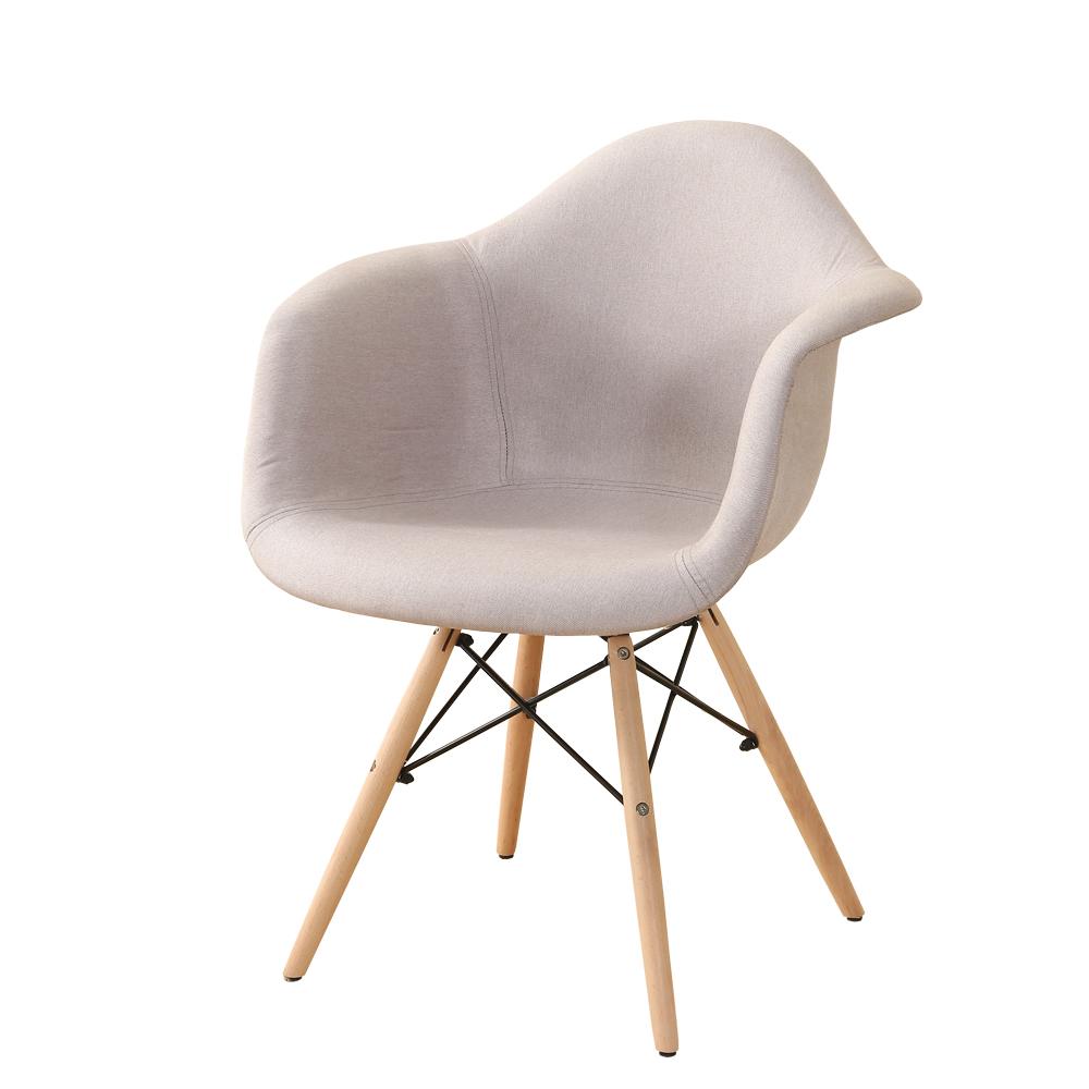 fauteuil design nordique tissu et pieds bois bleu ou gris unit. Black Bedroom Furniture Sets. Home Design Ideas