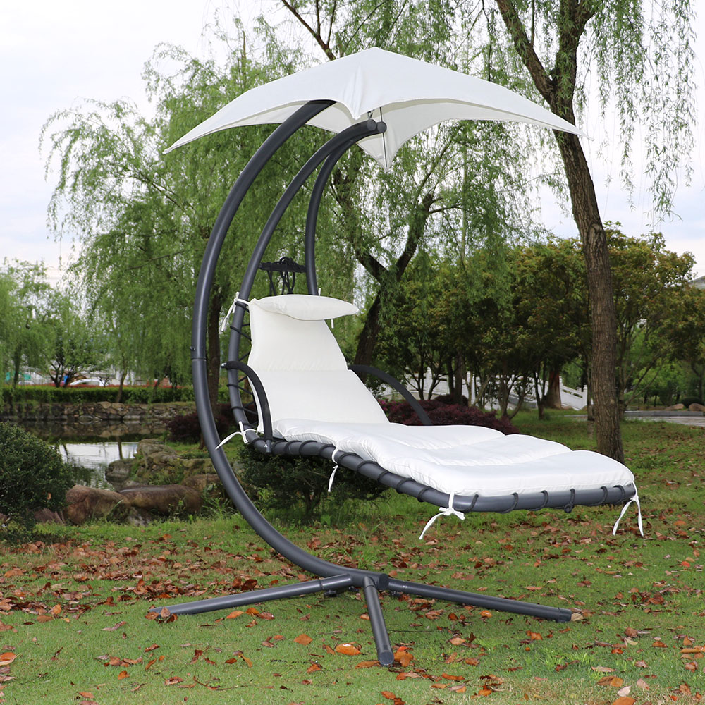 fauteuil suspendu chaise longue de jardin avec ombrelle. Black Bedroom Furniture Sets. Home Design Ideas
