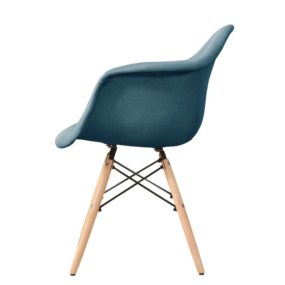 fauteuil design nordique tissu et pieds bois bleu ou gris unit bleu seulement sur. Black Bedroom Furniture Sets. Home Design Ideas