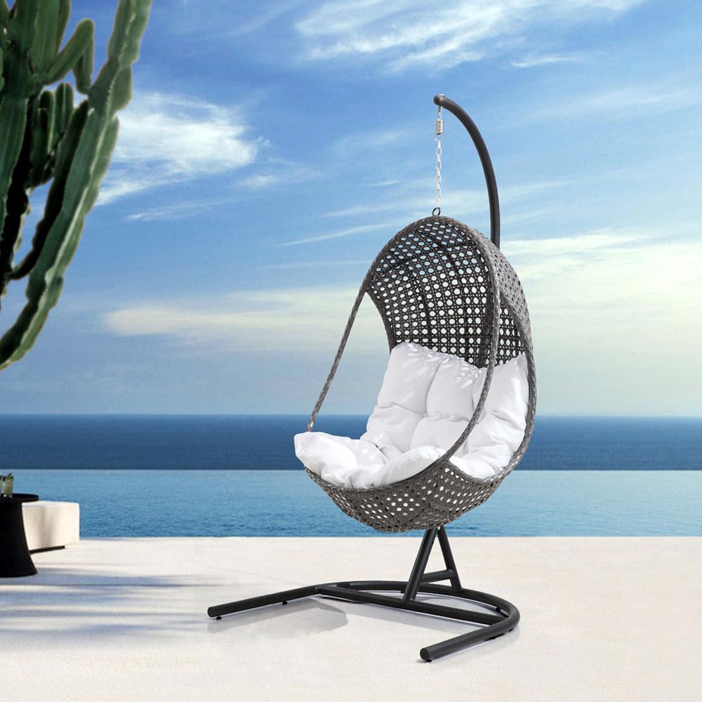fauteuil suspendu de jardin en forme d uf v nus. Black Bedroom Furniture Sets. Home Design Ideas
