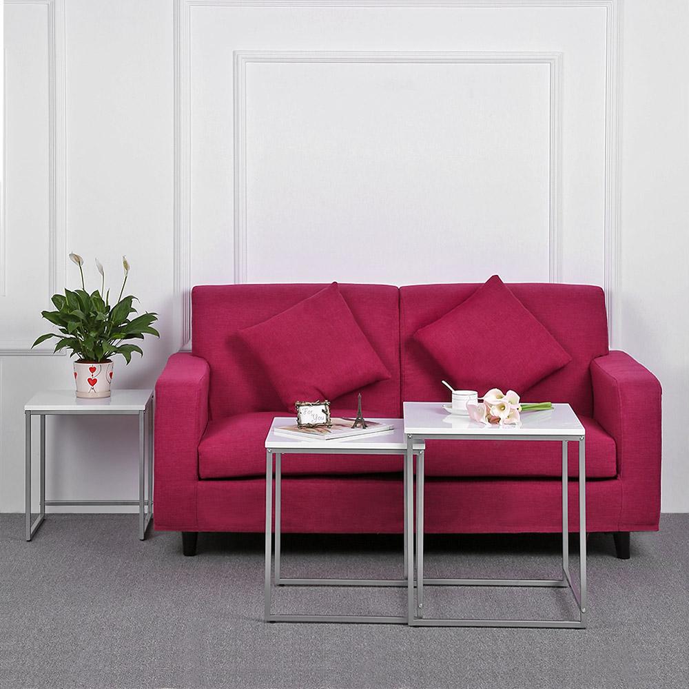 Solo ikayaa 3pcs metallo tavolini impilabili frame for Divano ottomano