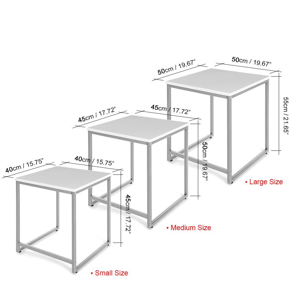 Sólo 48.21€, iKayaa 3PCS metal mesas nido marco establecido por la ...