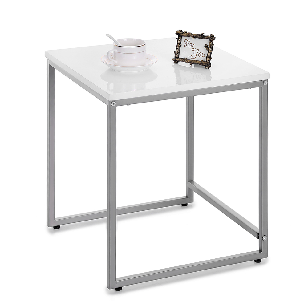 IKayaa 3PCS Metal Frame Nesting Side End Tables Set