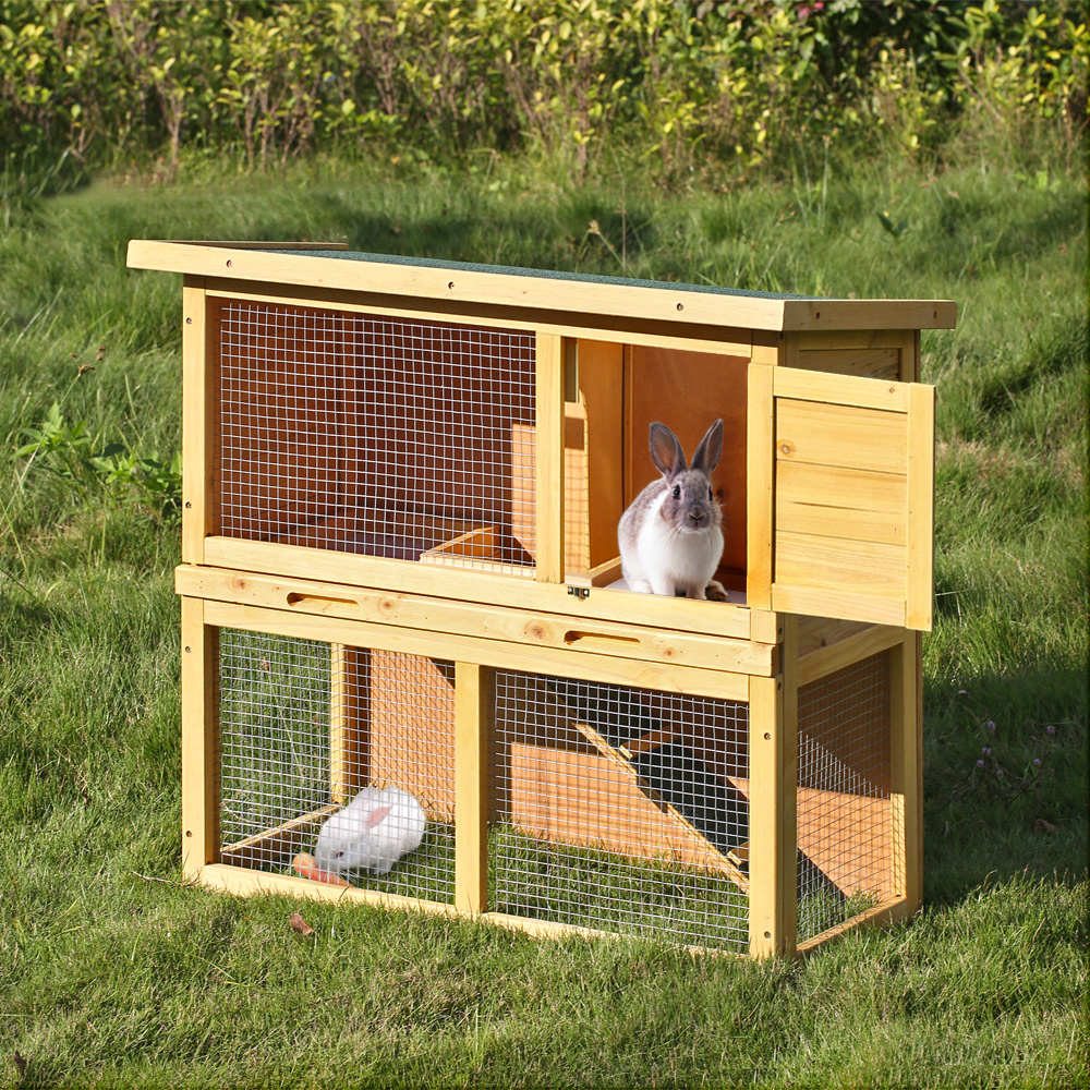 ikayaa multi use chicken coop waterproof wood rabbit hutch. Black Bedroom Furniture Sets. Home Design Ideas