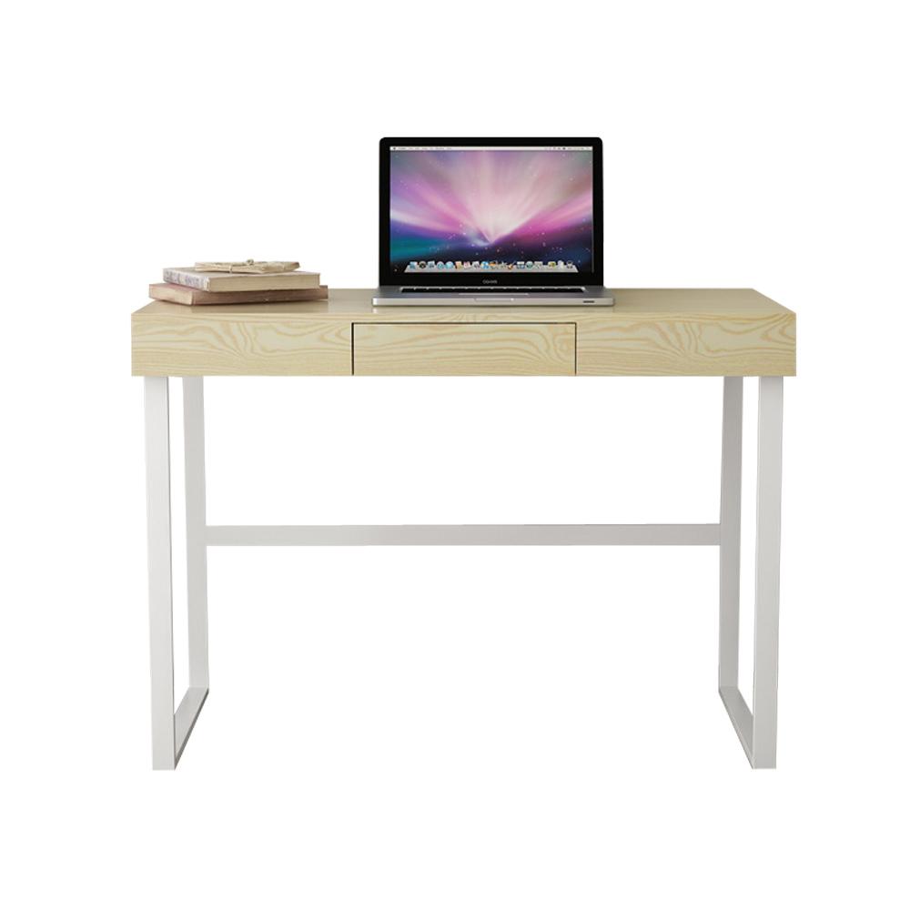 Ikayaa Cadre En M Tal Moderne Ordinateur Table De Bureau Avec  # Table Ordi En Bois