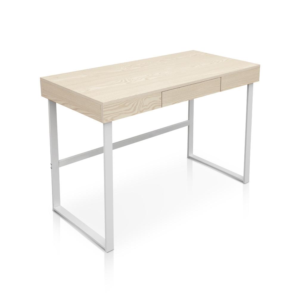 d s table de bureau ikayaa avec tiroir effet bois. Black Bedroom Furniture Sets. Home Design Ideas