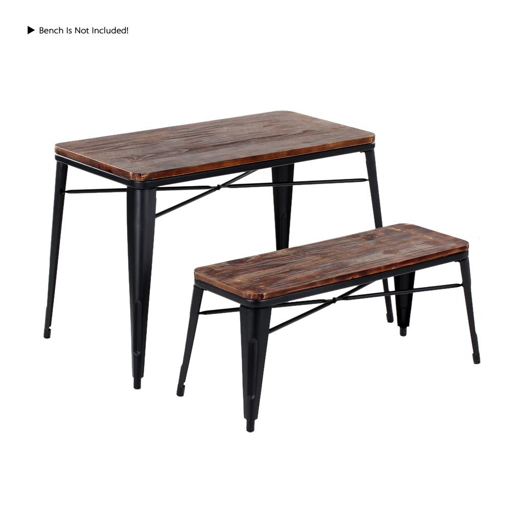 Solo 190.39€, IKayaa Tavolo da pranzo da cucina in legno di pino di metallo  naturale antico - LovDock.com