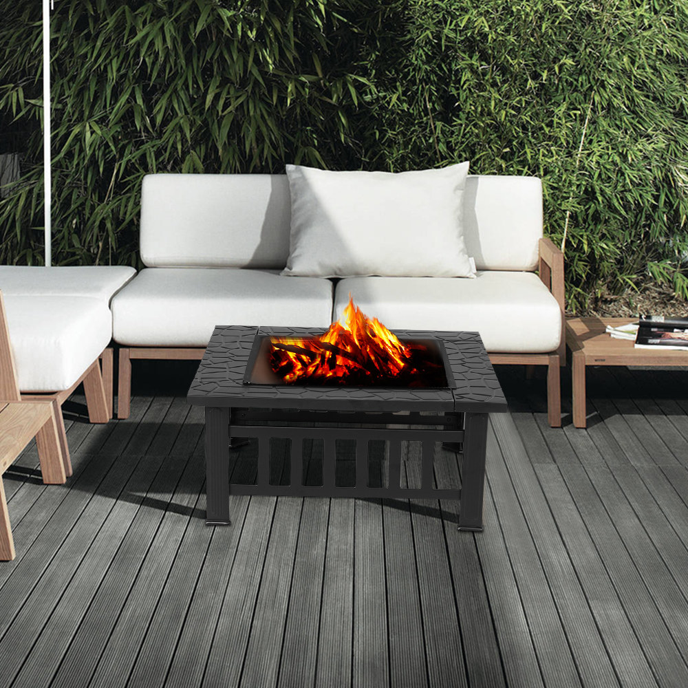 brasero barbecue carr pour jardin et terrasse ikayaa. Black Bedroom Furniture Sets. Home Design Ideas