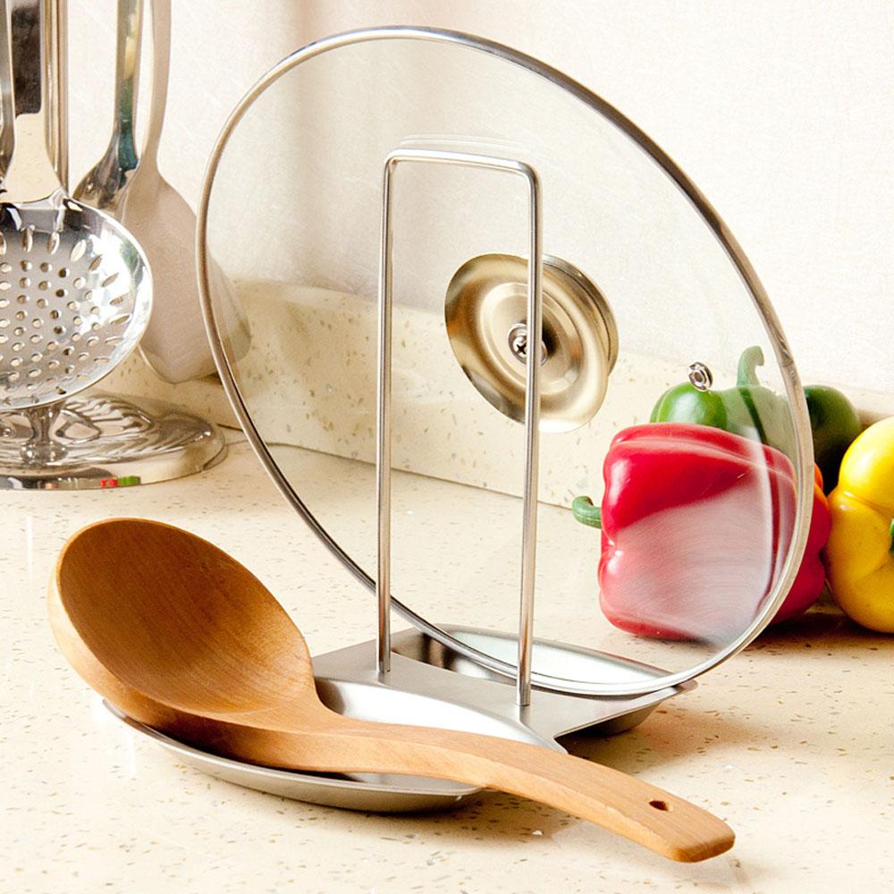 S lo alta calidad acero inoxidable tapa cuchara for Soporte utensilios cocina