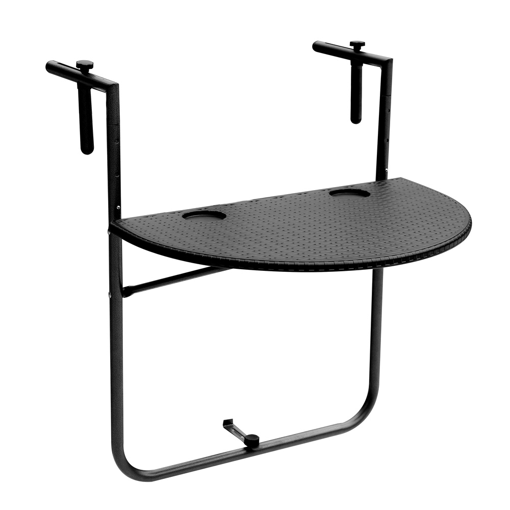 tablette pliante demi lune suspendre sur rampe de patio balcon terrasse seulement sur. Black Bedroom Furniture Sets. Home Design Ideas