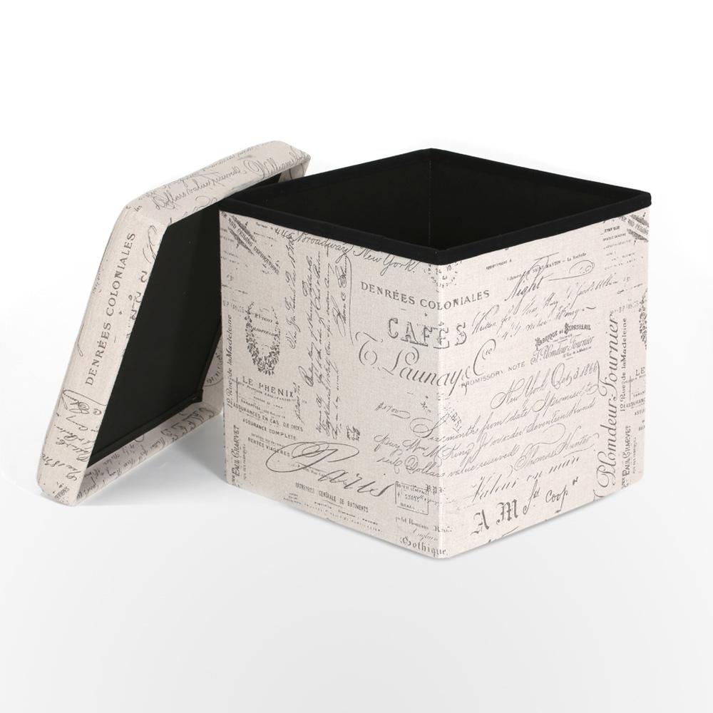 IKayaa European Foldable Storage Ottoman