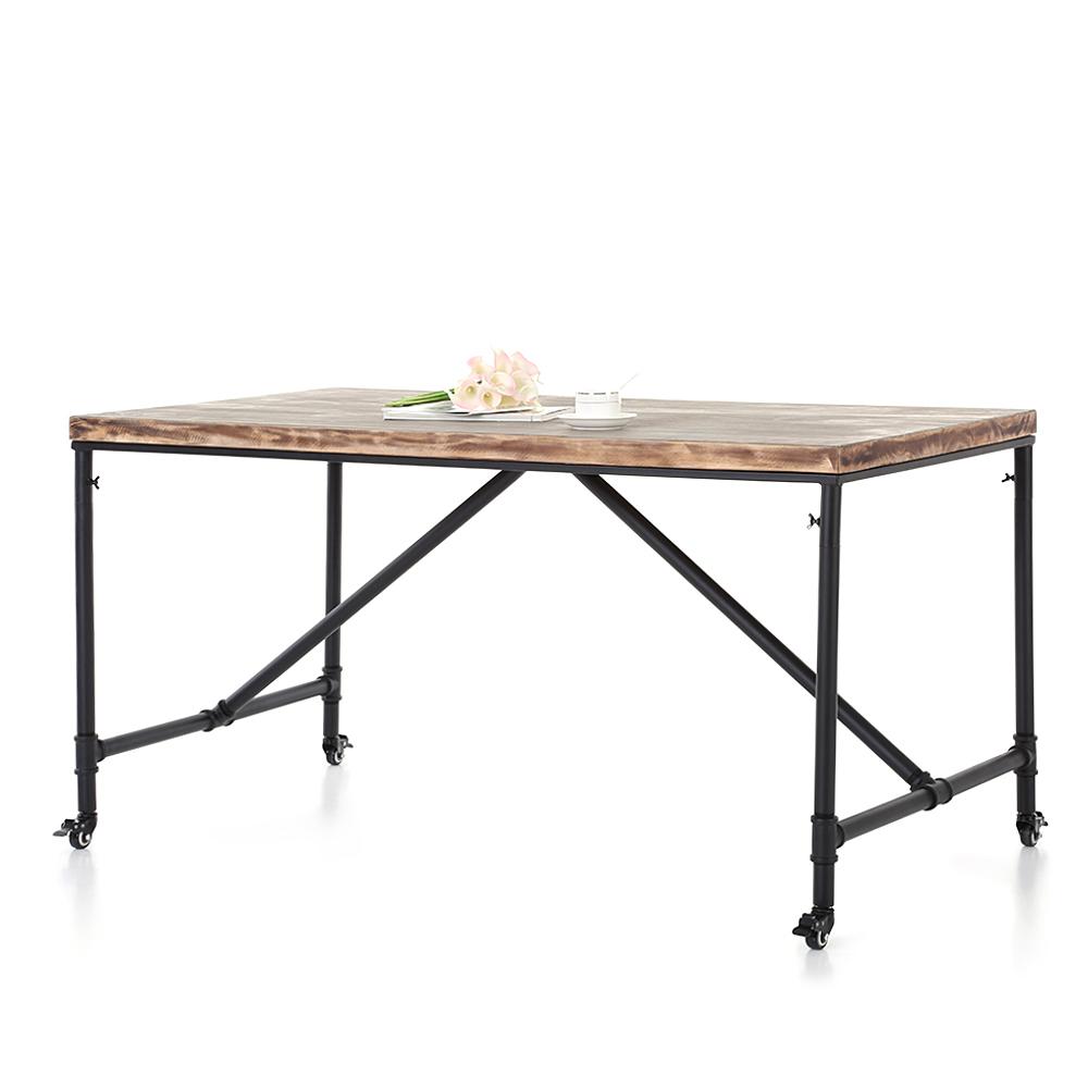 Rustic Pine Wood Coffee Table: Wood IKayaa Rustic Pine Wood Kitchen Dining Coffee Table