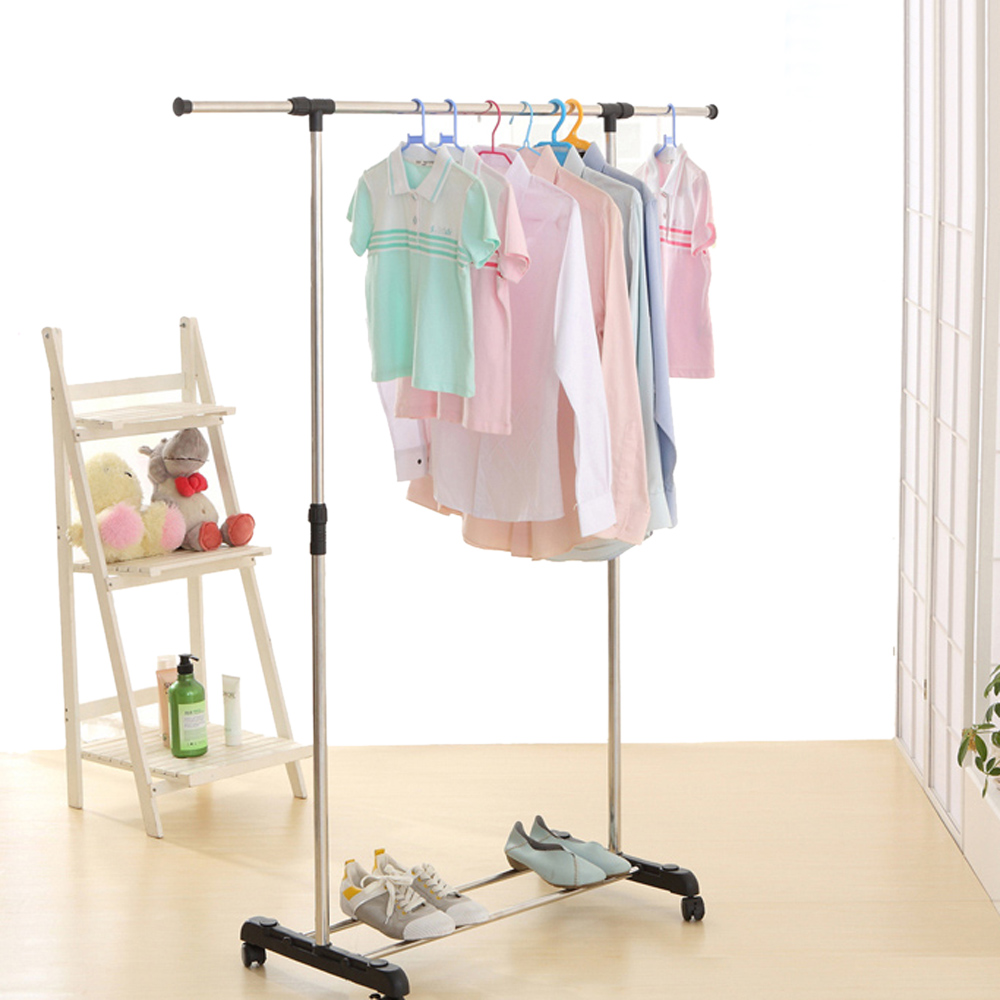 Charmant IKayaa Metal Adjustable Clothes Garment Coat Rack