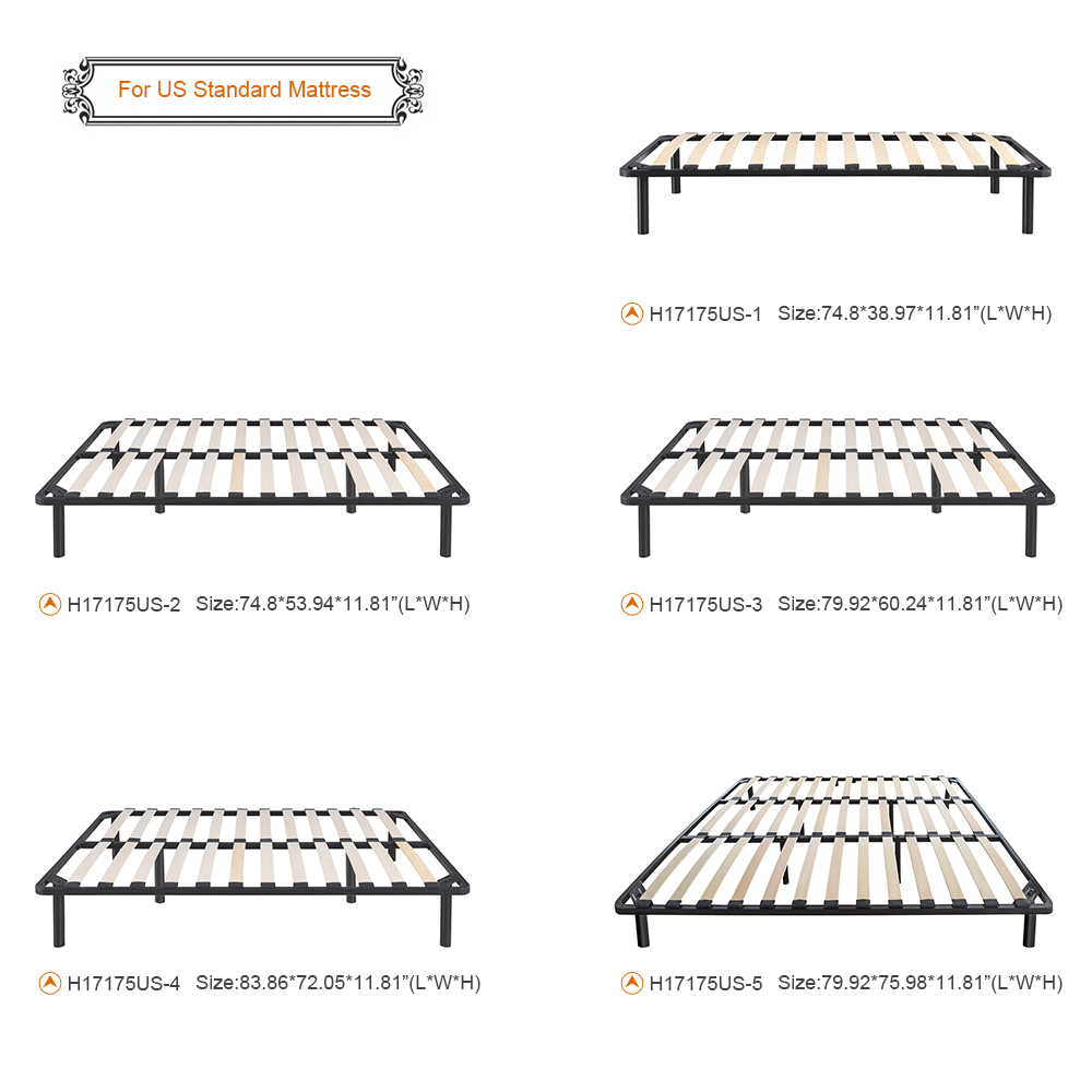 Sólo 110.49€, Estructura de cama iKayaa Plataforma de metal con los ...