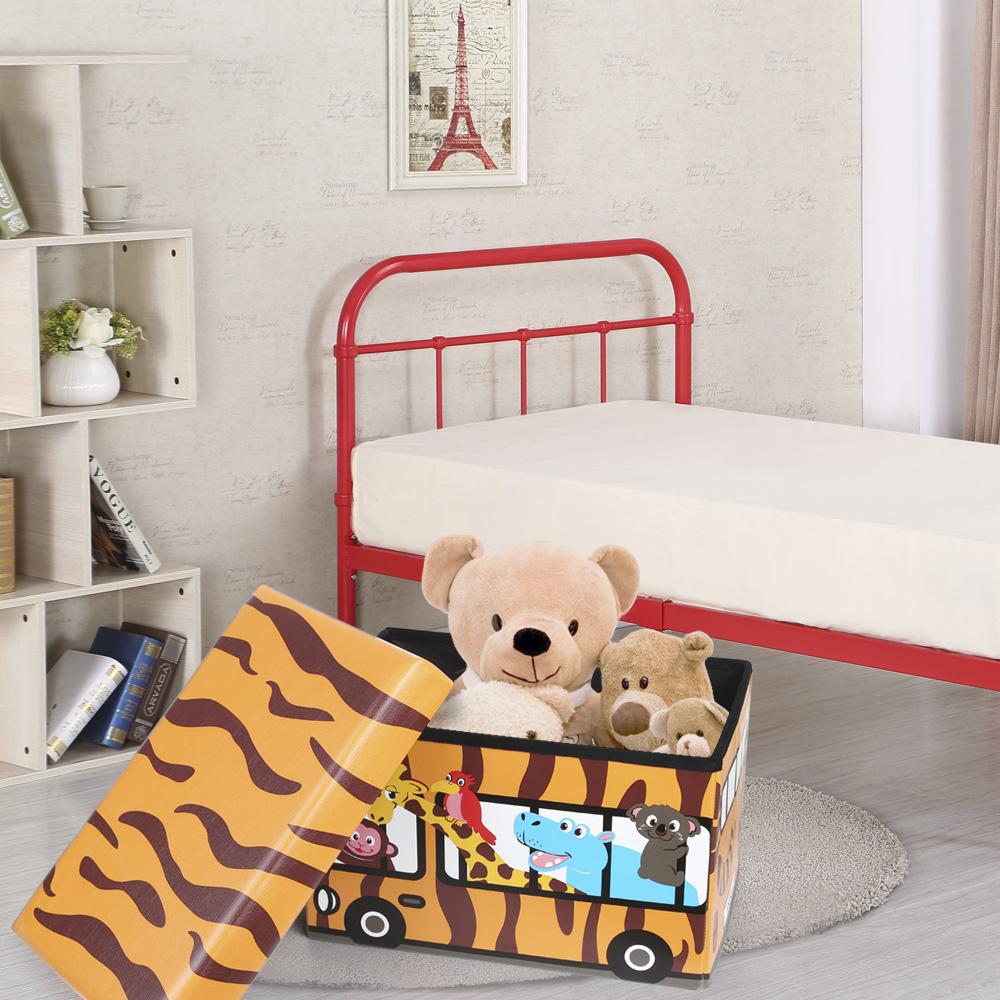IKayaa Nette Faltbare Kinder Kinder Schränke Sitzhocker Spielzeug Bücher  Aufbewahrungsbox Bins Organizer
