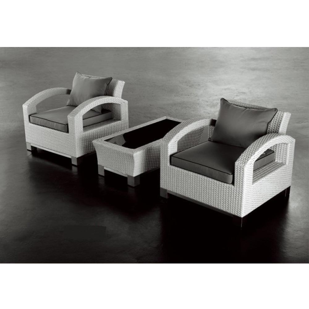Nur 771.00€, Salon de jardin RILASA : Canapé 2 places + 2 fauteuils ...