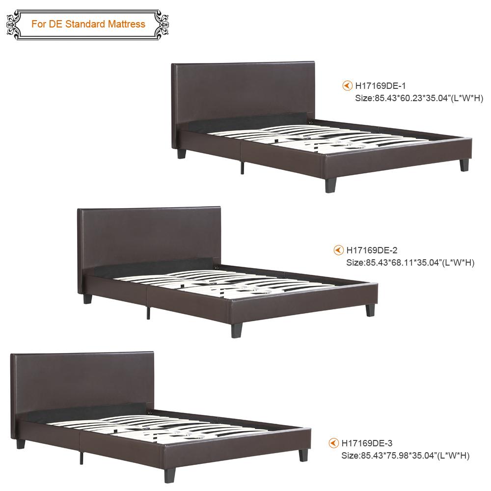 Nur 213.74€, iKayaa Plattform-Bett-Rahmen mit den hölzernen Latten ...