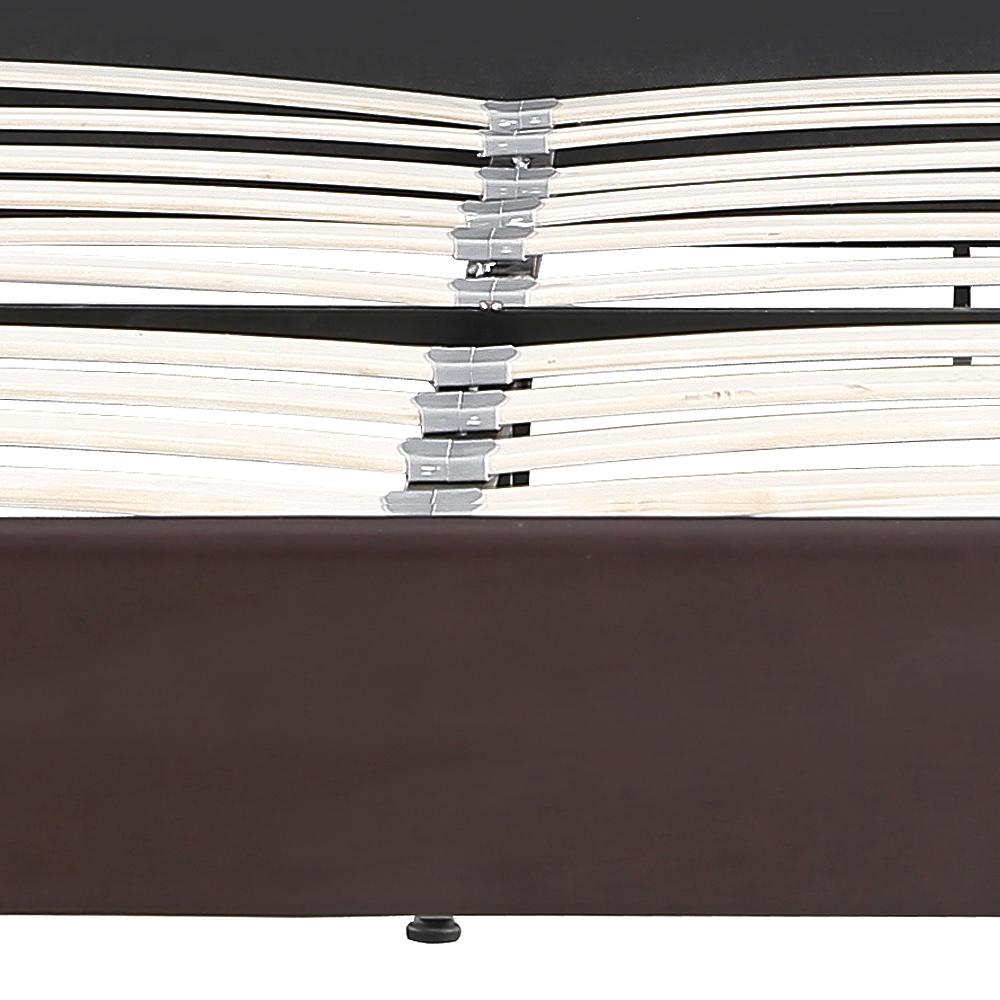 Nur 220.49€, iKayaa Plattform-Bett-Rahmen mit den hölzernen Latten ...