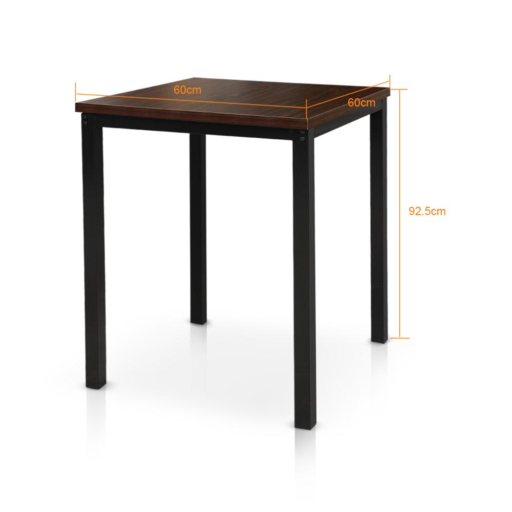 Ikayaa modern 3pcs pub bar table avec 2 chaises indoor for Ensemble table et chaise 6 personnes