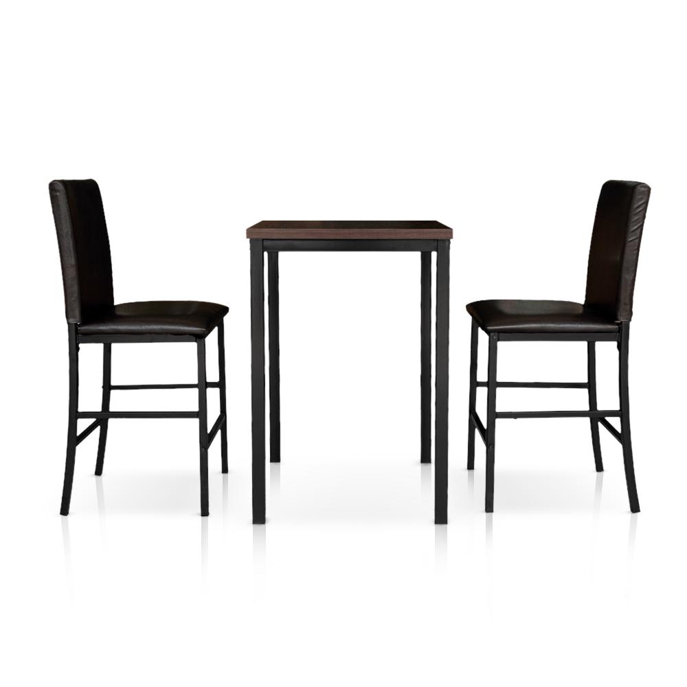 d s ensemble table et chaises hautes moderne ikayaa 2 personnes. Black Bedroom Furniture Sets. Home Design Ideas