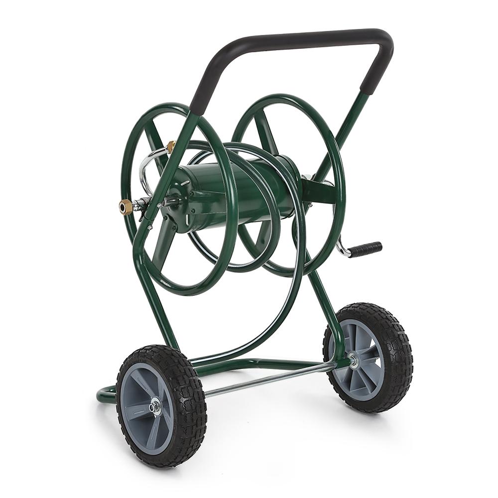ikayaa 200 feet steel frame garden hose reel cart - Garden Hose Reel Cart