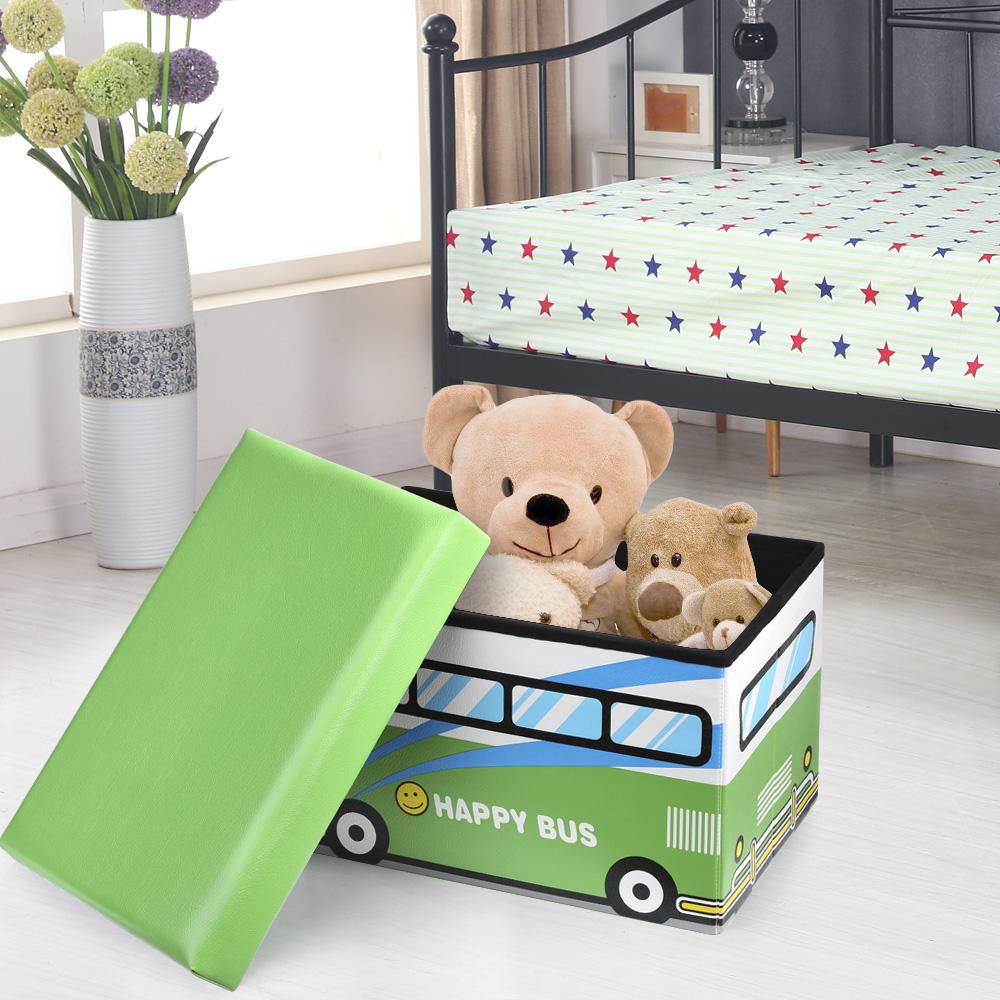 only ikayaa mignon si ge pliable enfants tabouret de rangement jouet livres bo te. Black Bedroom Furniture Sets. Home Design Ideas