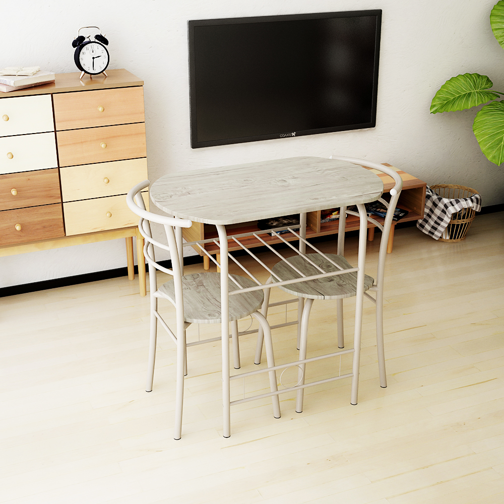 Sólo 55.60€, IKayaa moderno marco de metal 3pcs desayuno mesa de ...